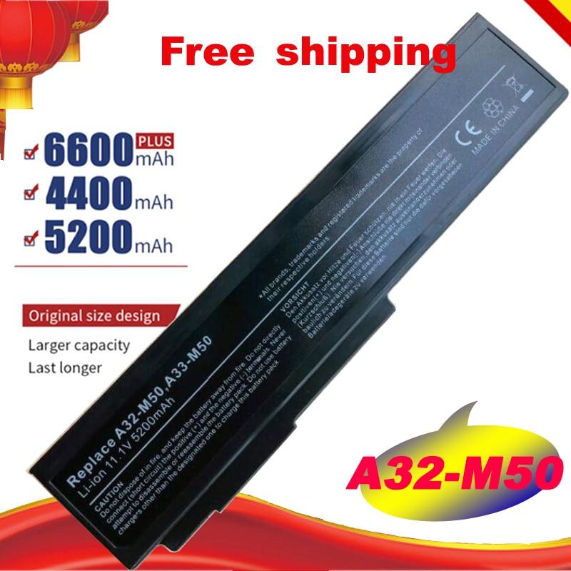6Cell A32-N61 batería para ASUS N61 N61J N61D N61V N61VG N61JA N61JV M50s N43S N43JF N43JQ N53 N53S N53SV A32-M50 gratis