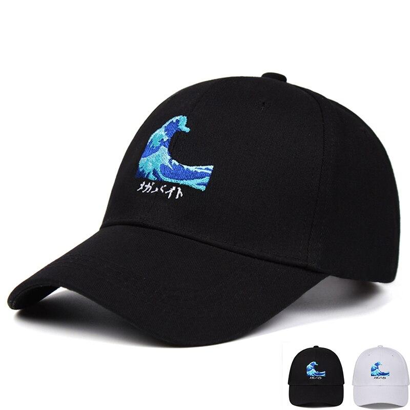 Anime olas gorra de béisbol para hombres snapback ajustable gorro de hip...