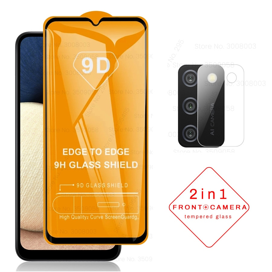 9D Full Glue Cover Tempered Glass for Samsung Galaxy A02S A 02S A02 S A 02 S 2021 6.5'' Camera Lens Protective Cover Film Movie