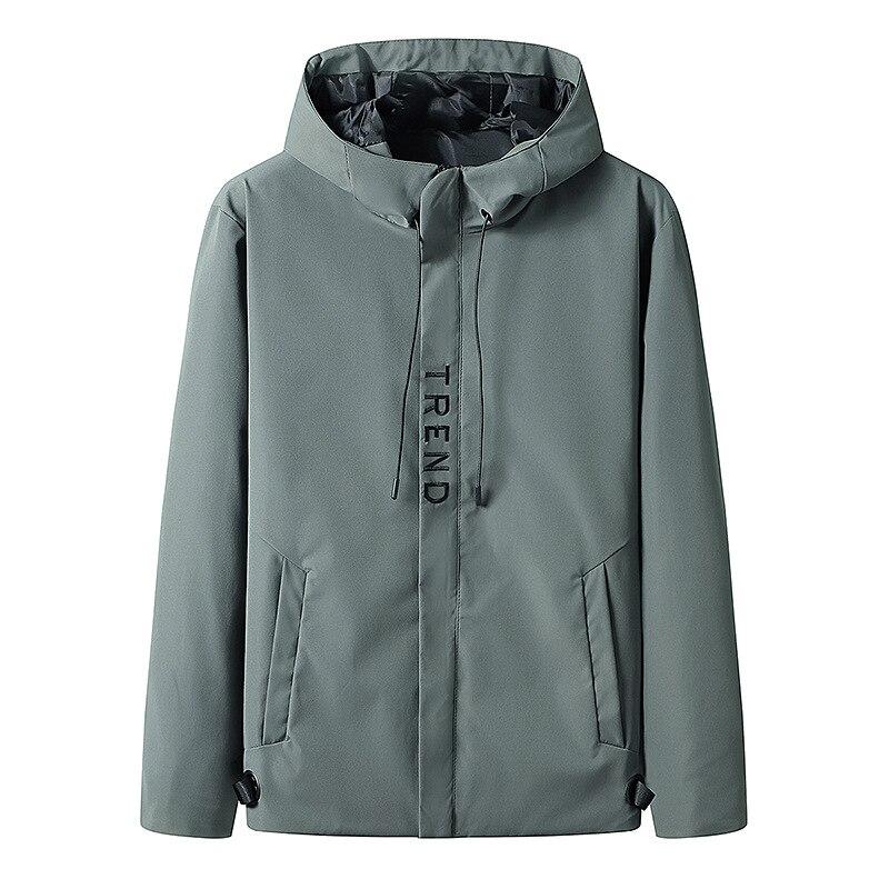 Мужская куртка с капюшоном, свободная уличная одежда, мужская ветровка, повседневная верхняя одежда, пальто в стиле хип-хоп, Мужская одежда, ...