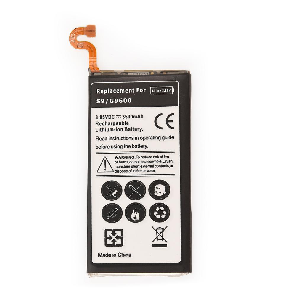 1 pçs bateria recarregável para samsung galaxy s9 g9600 SM-G960F SM-G960 g960f g960 EB-BG960ABE 3500 mah bateria de telefone de backup