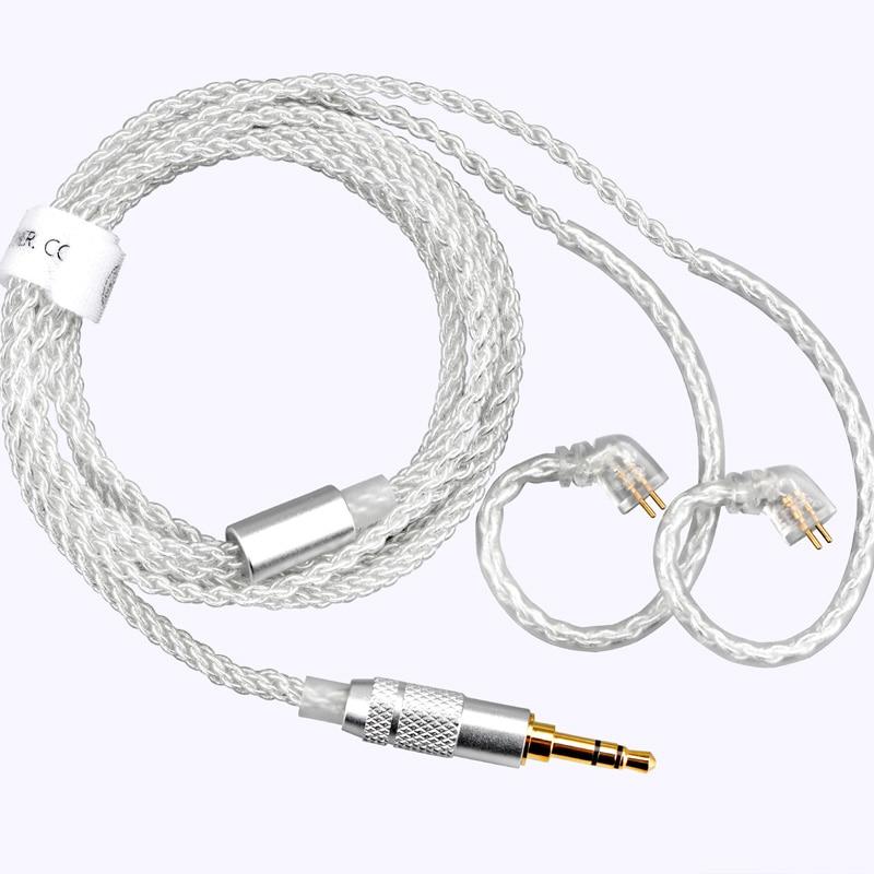 TFZ-كابل ترقية لسماعات الأذن 3.5 مللي متر/4.4 مللي متر إلى 2 دبوس 0.78 مللي متر ، مطلي بالفضة ، واحد ، كريستال ، نحاسي ، فضي