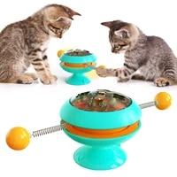 gyro turntable cat toy funny cat stick cat indoor cat interactive cat catnip toy with powerful sucker pet windmill exercise ball