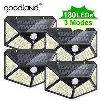 Уличная лампа Goodland 180 с питанием от солнечной батареи, водонепроницаемый светильник льник с пассивным ИК датчиком движения для украшения са...
