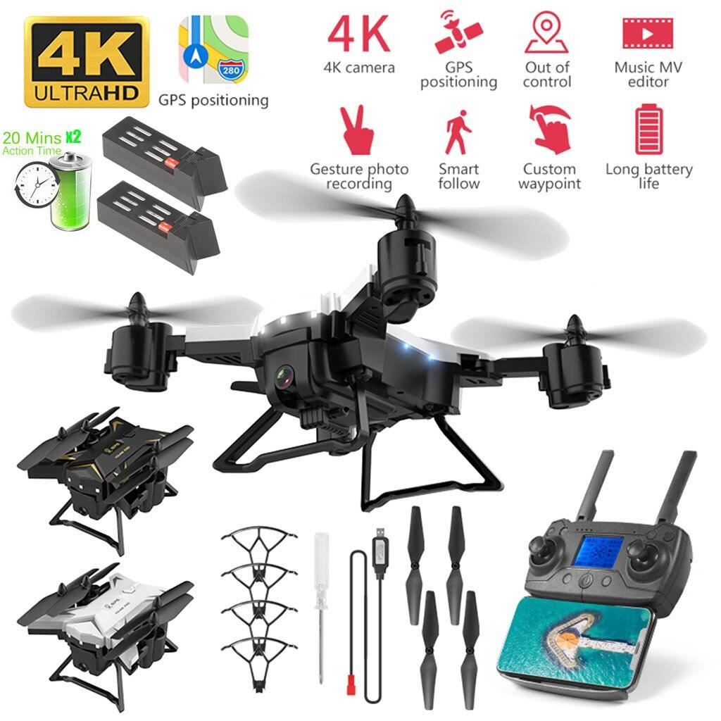 Zangão dobrável mini inteligente do zangão do zangão do quadcopter rc do zangão de ky601g com a câmera 5g wifi fpv do zangão de 4 k hd