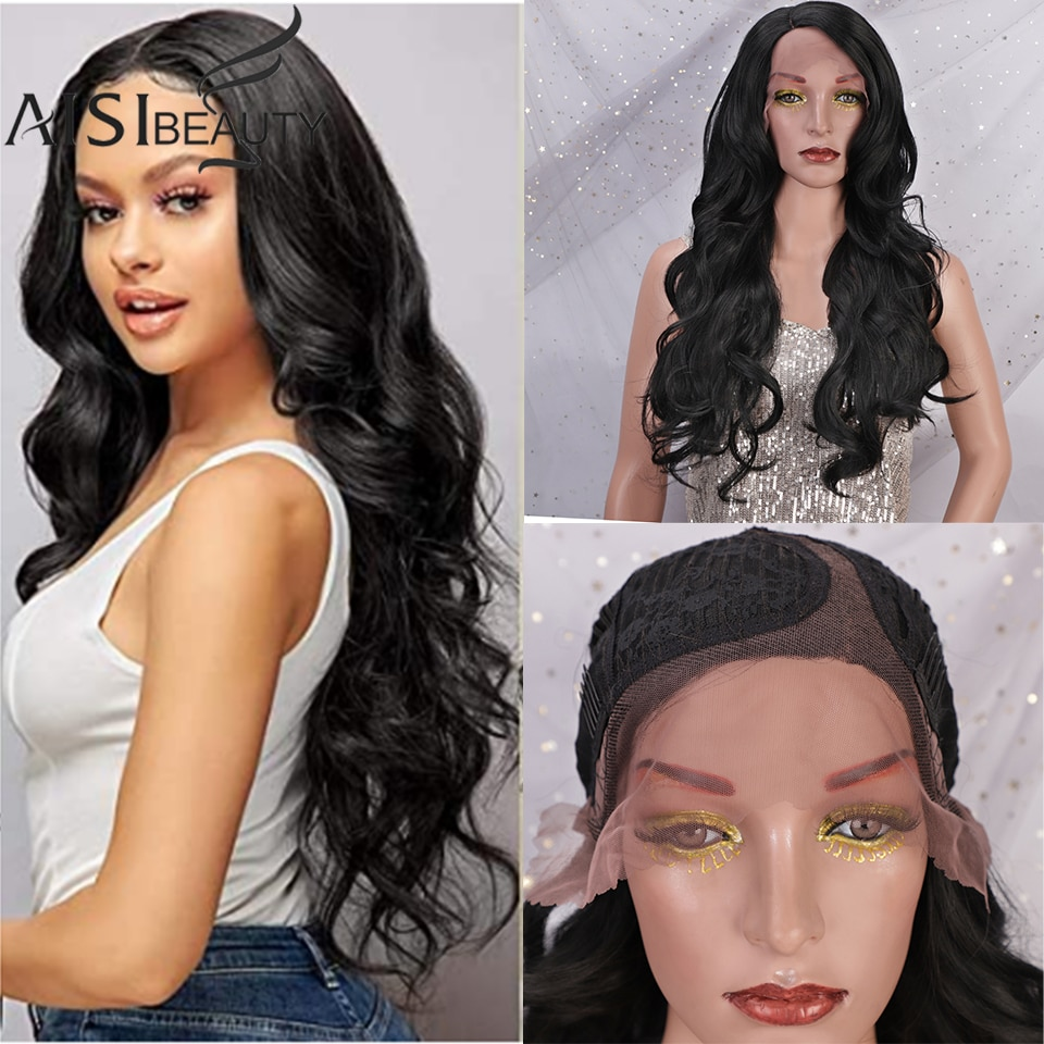 AISIBEAUTY Lace Front Wigs For Women 13x4 Long Deep Wave Wigs 26
