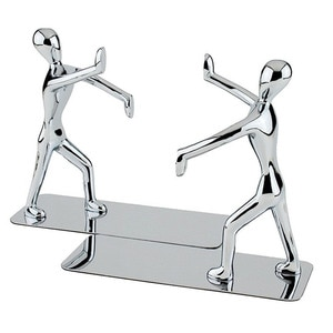 2pcs Bookends Metal Kongfu Books Support Book Stoppers For Home Office Bookshelves Table Bookshelf Metal Book Hand Push Book