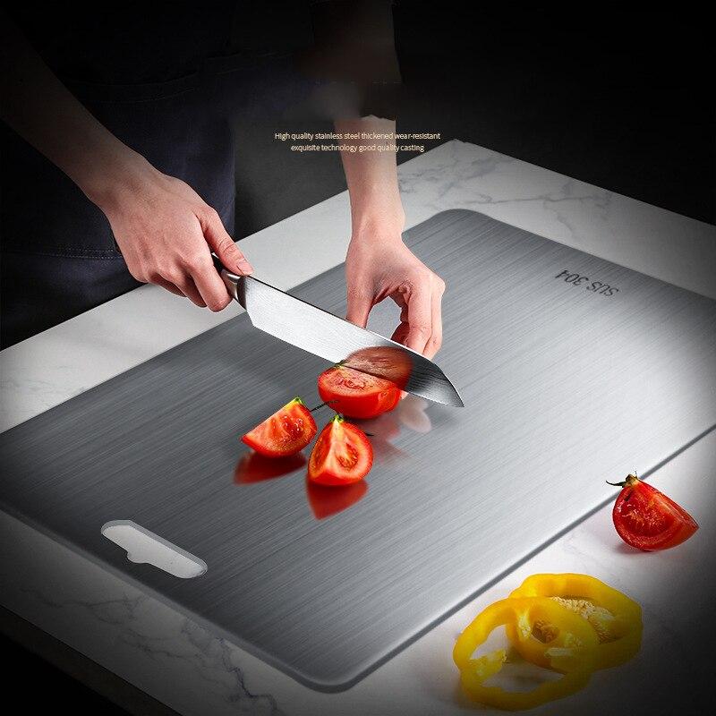 304 Multi-Function Stainless Steel Cutting Board Home Kitchen Rectangular Board Chopping Board Kneading Dough Cutting Board