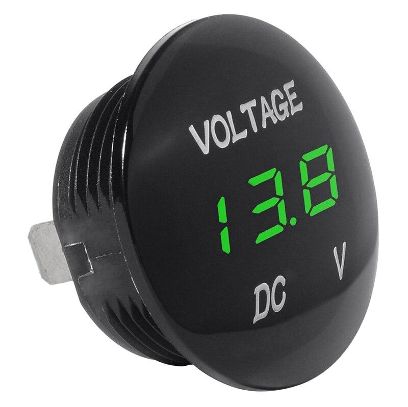 Medidor de voltaje Universal voltímetro pantalla Digital resistente al agua LED Color verde para 12 V-24 V CC coche motocicleta automóvil camión