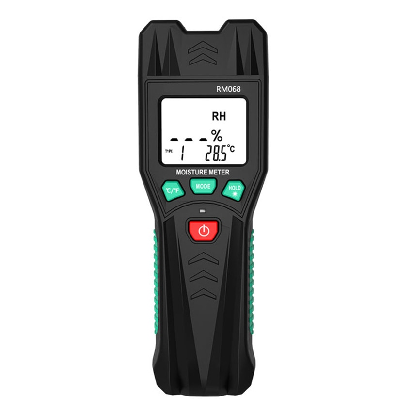 Two Pins Digital Wood Moisture Meter Wood Humidity Tester Hygrometer Timber Damp Detector with LCD Display Backlight RM068 digital wood moisture meter 7 categories of material moisture detection with lcd display backlight wood working tester