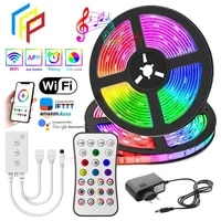 new wifi led strip light rgb 50502835 flexible ribbon fita rgb led lights tape diode 20m 5m dc 12v and wifi controller