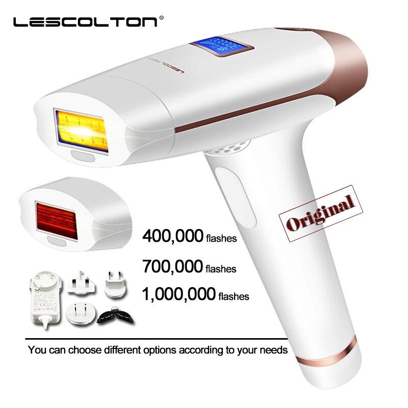 Lescolton t009i ipl depilador a laser 700000 flashes profissional permanente máquina de remoção do cabelo display lcd elétrico fotodepilador
