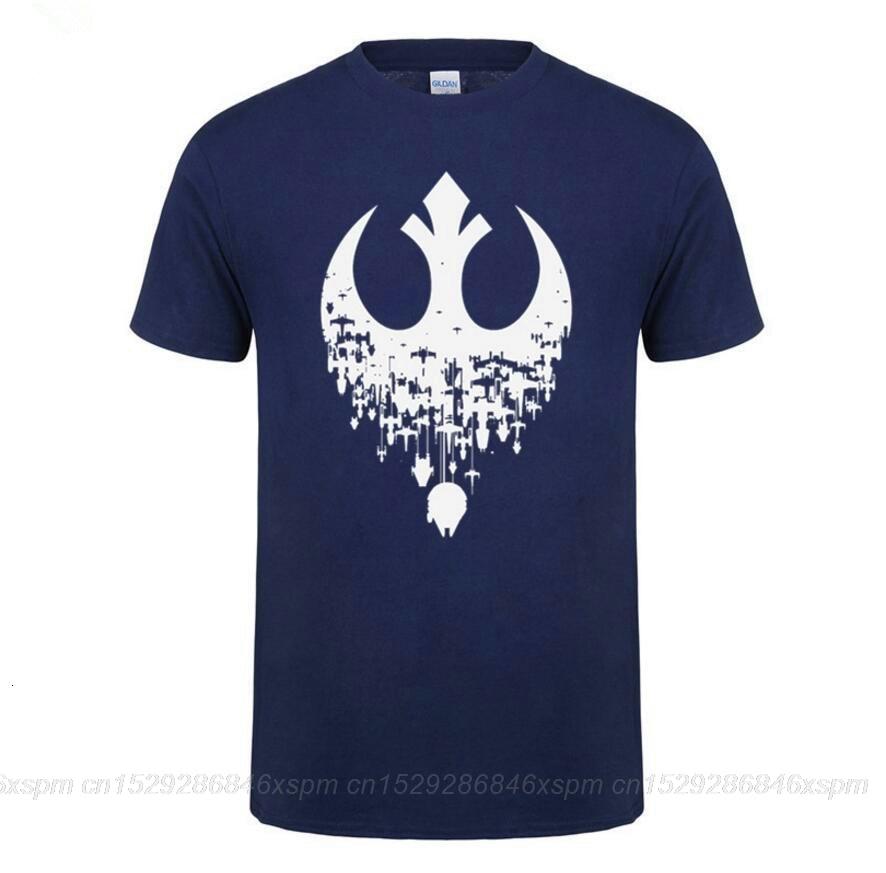 Una yona nueva moda 2019 Star wars camisetas JEDI camiseta rebelde homme camiseta Darth Vader hip hop camiseta camisetas masculinas