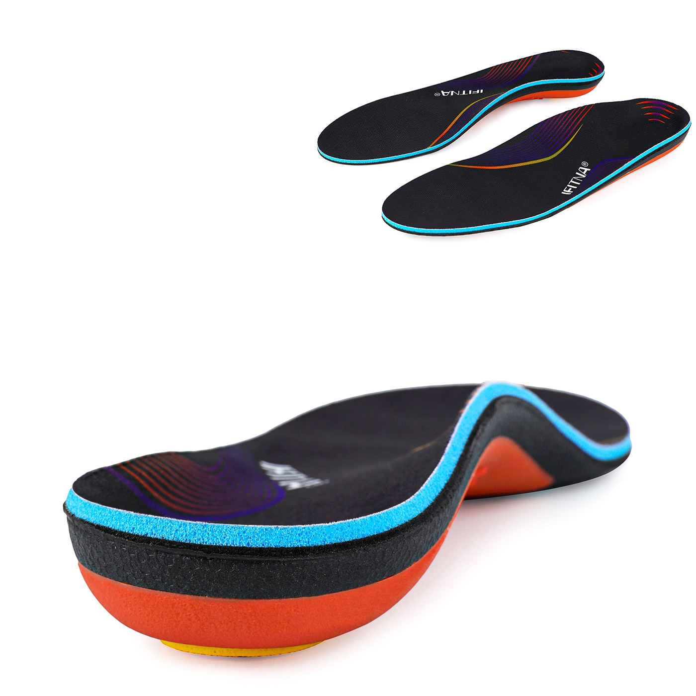 4d men and women universal sole flat insole flat foot insole support insole orthopedic massage mat sports insole nd 1 Unisex insert, flat-foot orthopedic insole, breathable and moisture-permeable, high-support insole with resilience