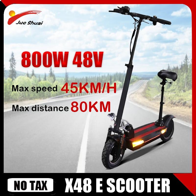 Patinete eléctrico potente para adultos, Scooter plegable de 48V y 800W con...
