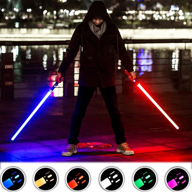 Novelties Lightsaber Laser Weapon Dueling Toys RGB 11 Colors For Outdoor Party Fancy lighting Gift Laser Sword Light