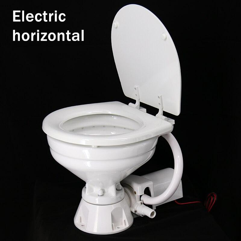 RV Toilet Flush Manual Electric closestool Lounge Sailing Vessel Special Vehicle-borne Ceramic Boat Marine Yacht trailer camper enlarge