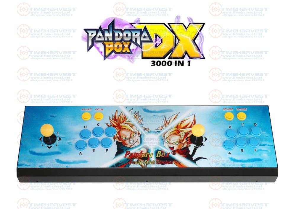 Caixa de pandora dx 3000 em 1 arcade console com jogos 3d 2 jogadores nova versão pode salvar o progresso do jogo alta pontuação vga saída hdmi