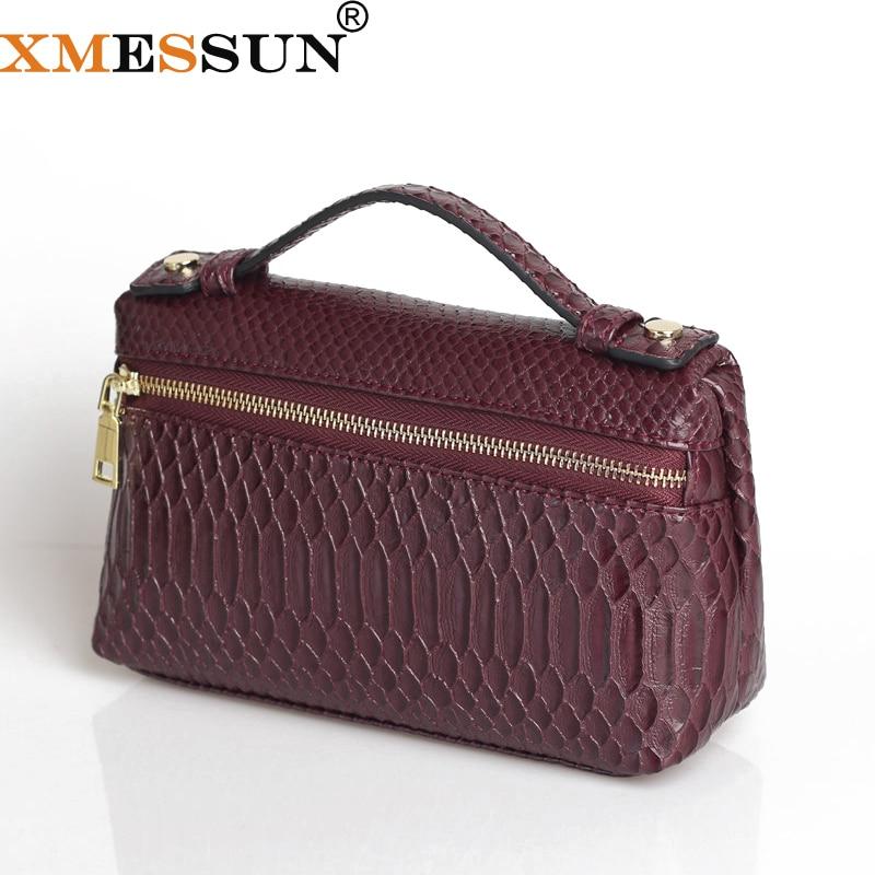 XMESSUN Mode Geprägt Python Leder Tasche Pouch Big Kuh Leder Kupplung Tasche Luxus Designer Handtasche Geldbörse Trendy Tasche 2019 Neue