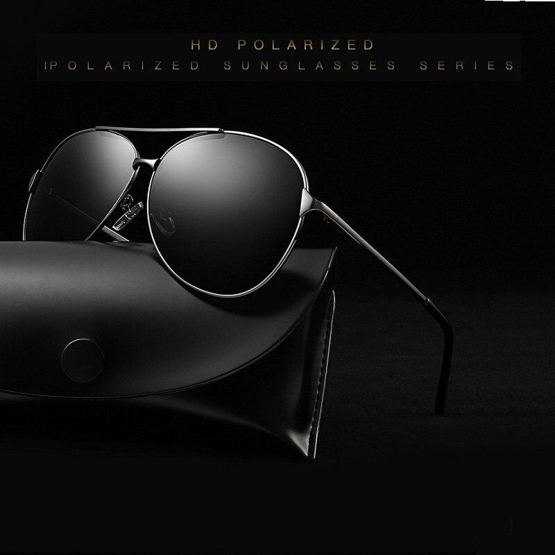 MYT_395 Brand Designer Aviation Polarized Sunglasses Men Retro Pilot Sun Glasses Male Metal Frame Eyewear Driving UV400
