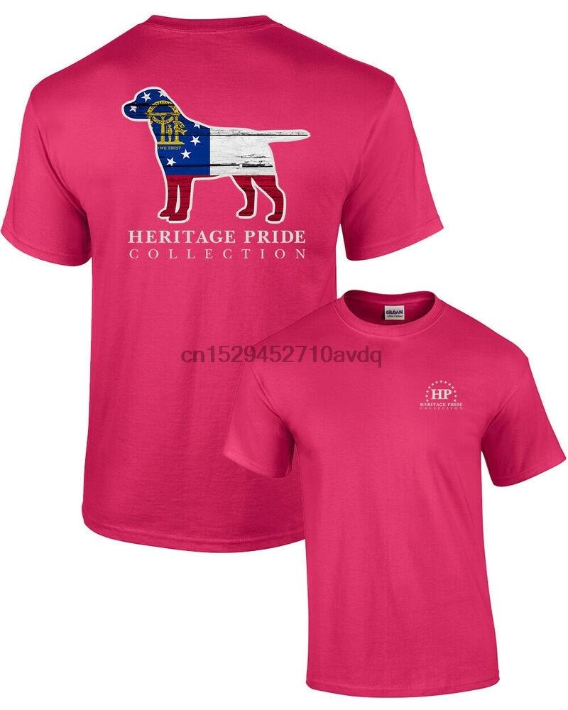 Heritage Pride Georgia perro patriótico adulto camiseta