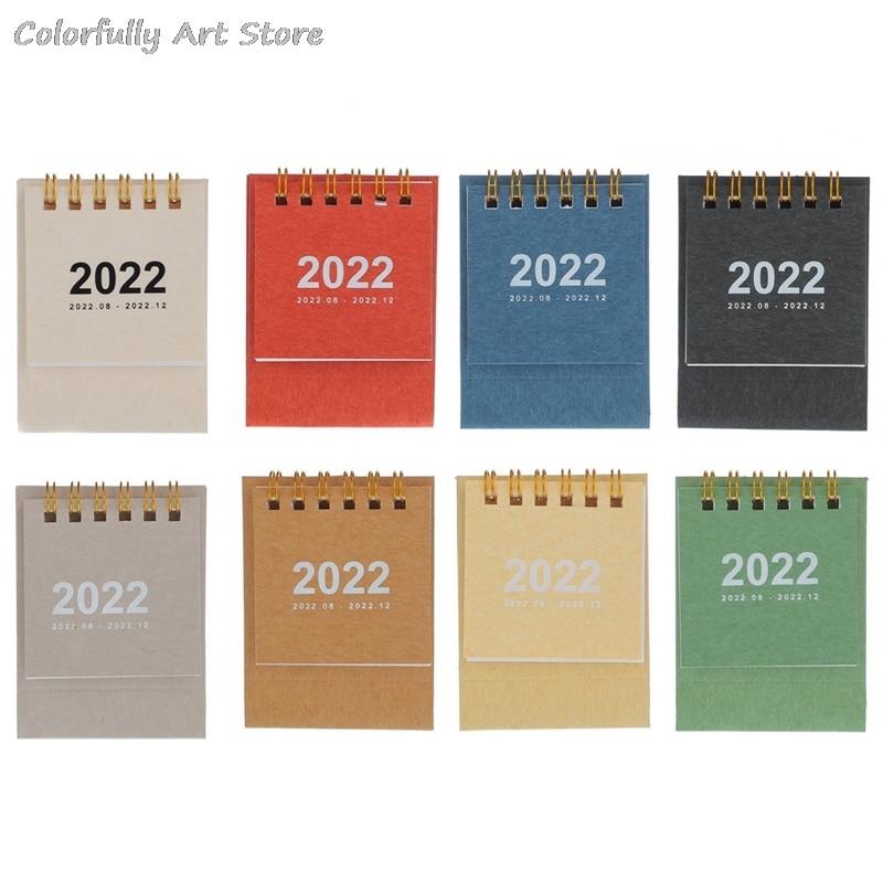 2022 простой настольный мини-календарь в катушке, портативный ежедневный Еженедельный план, настольный планировщик, органайзер, офисные и шк...