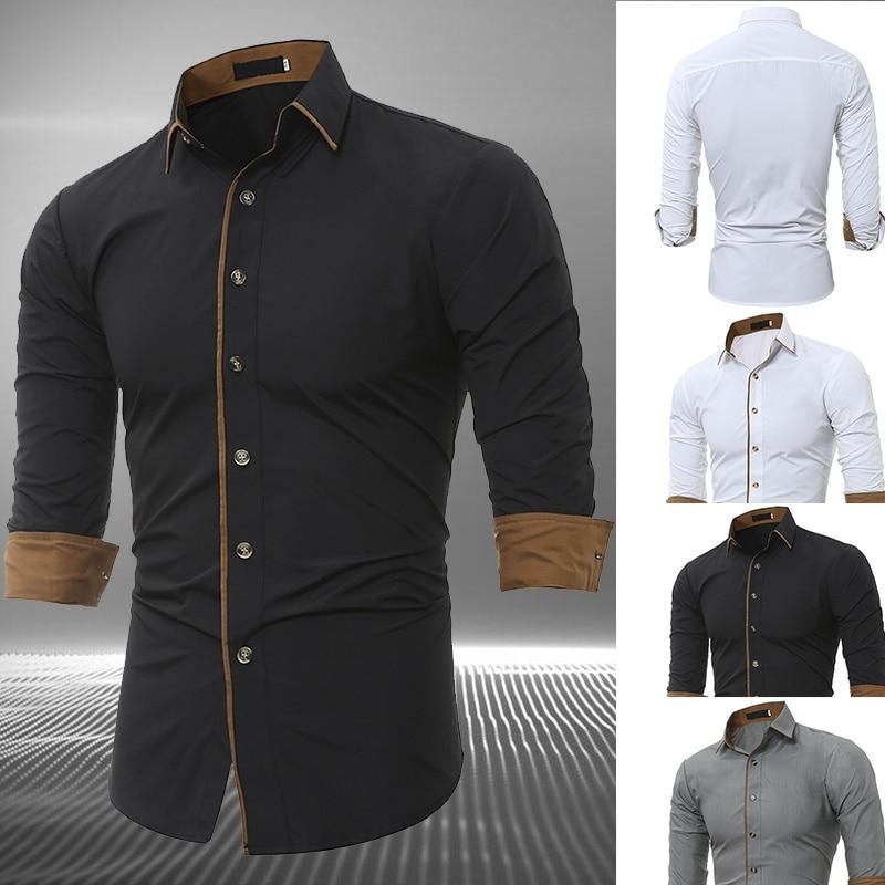 Мужские рубашки, мужские классические рубашки, рубашки для мужчин, рубашки на пуговицах, деловые повседневные рубашки для офиса