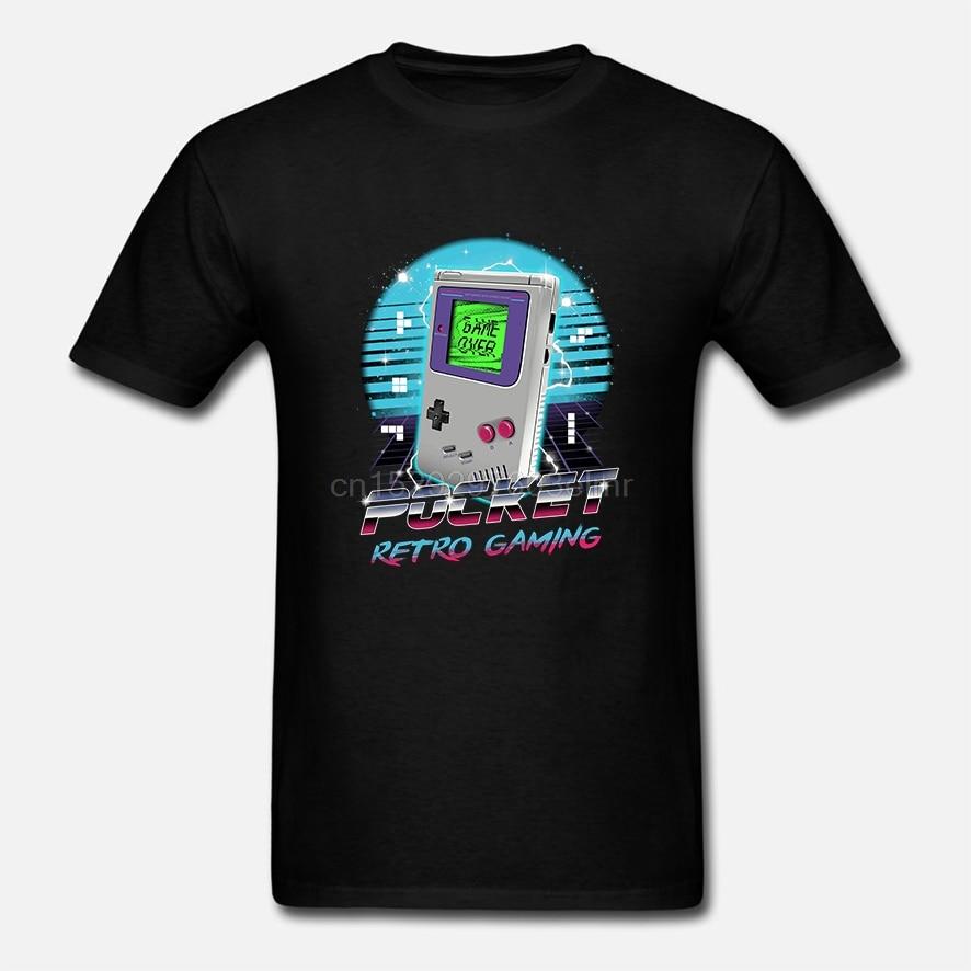 Hombres de manga corta Camiseta bolsillo Retro Gameboy camiseta mujer camiseta