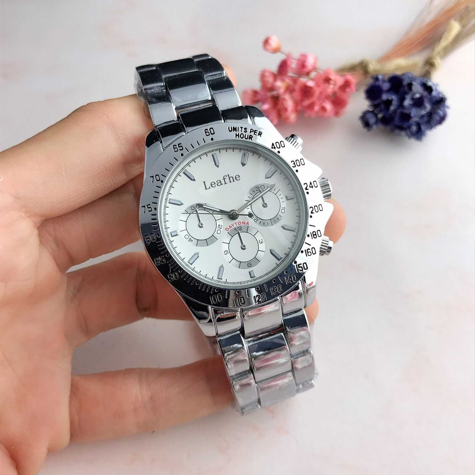 Fashion Three Eye Style Strip Brand Watches Silver Gold Rose Stainless Steel Nails Quartz Watch Female Clock Reloj Mujer enlarge