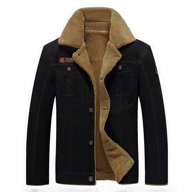 Mens Winter Military Bomber Jackets Plus Size M-6XL Thick Fleece Army Tactical Jacket Men Fur Collar Chaqueta Hombre