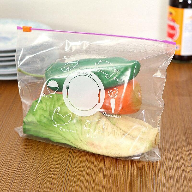 10 Uds bolsa de comida con cierre de cremallera reutilizable bolsas frescas con cremallera bolsas de calentamiento de congelación bolsas de almacenamiento de alimentos bolsa sellada al vacío accesorios de cocina