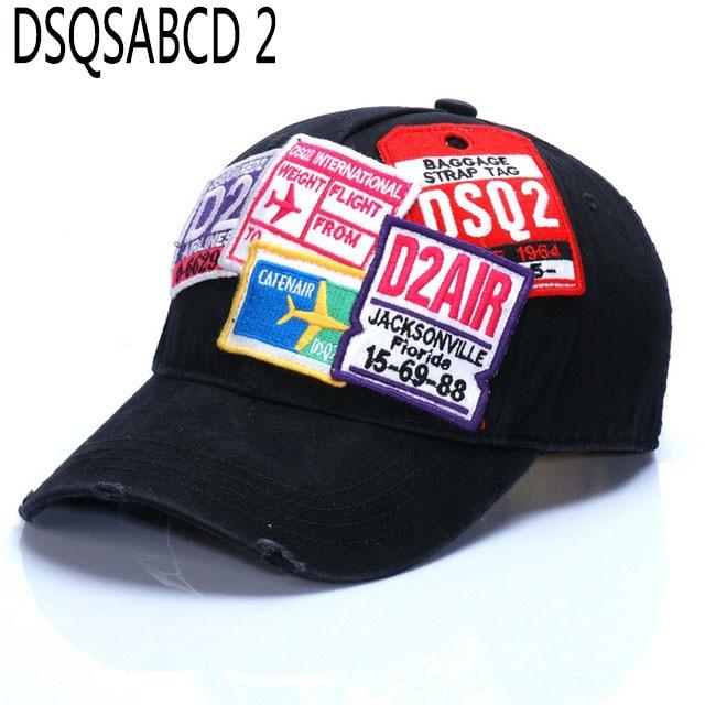 Летняя уличная шляпа dsq, брендовая мужская бейсболка, 100% хлопок, унисекс, регулируемые бейсболки с буквенным принтом, черная брендовая Кепка для мужчин