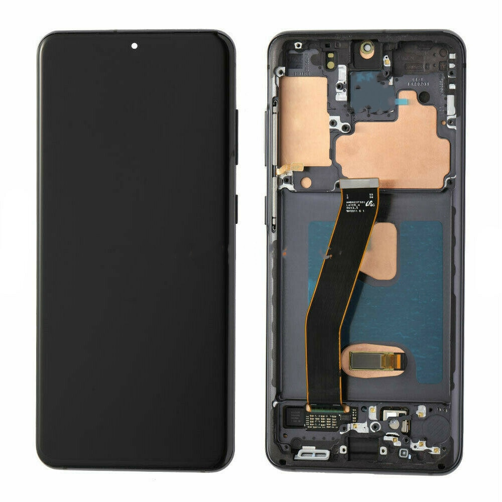 Original For Samsung Galaxy S20 LCD G980, G980F, G980DS, with Frame Display Touch Screen Digitizer with Line or with Black Dots enlarge