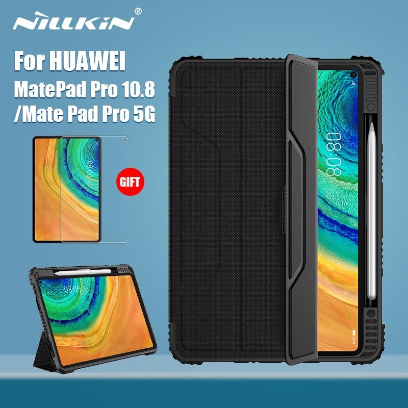 جراب مغناطيسي من جلد البولي يوريثان لهاتف Huawei Mate Pad Pro 10.8 ، غطاء رفرف ، غطاء خلفي للكمبيوتر الشخصي ، MatePad Pro 5G 10.4