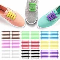 12pcsset creative shoelace unisex women men athletic running no tie shoelaces elastic silicone shoe lace all sneakers 9 colors