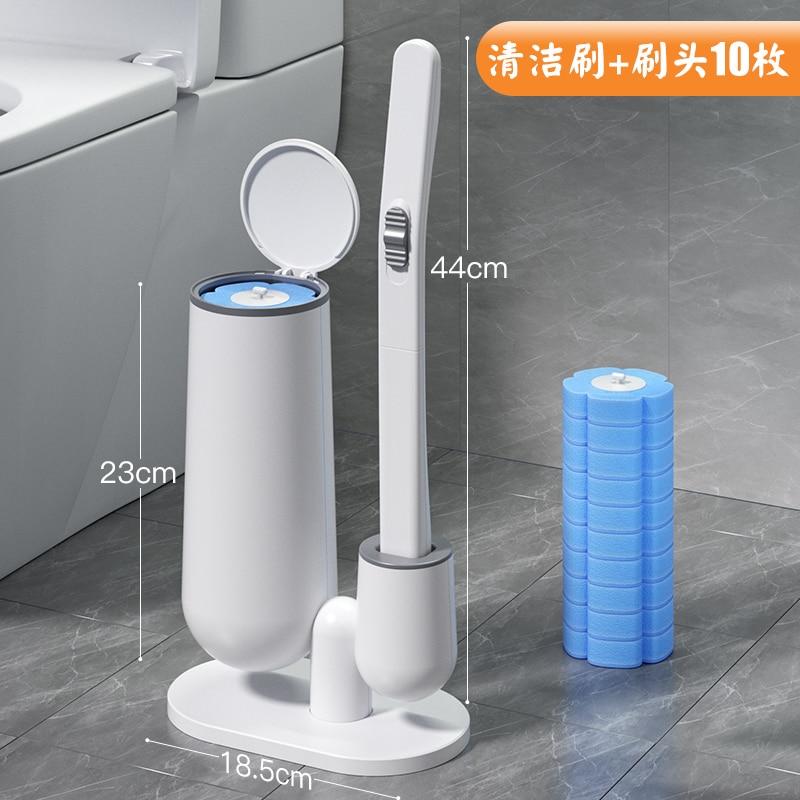 Replacement Toilet Brush Disposable Long Handle Standing Toilet Cleaning Brush Set Brosses De Toilette Bathroom Products DK50TB enlarge