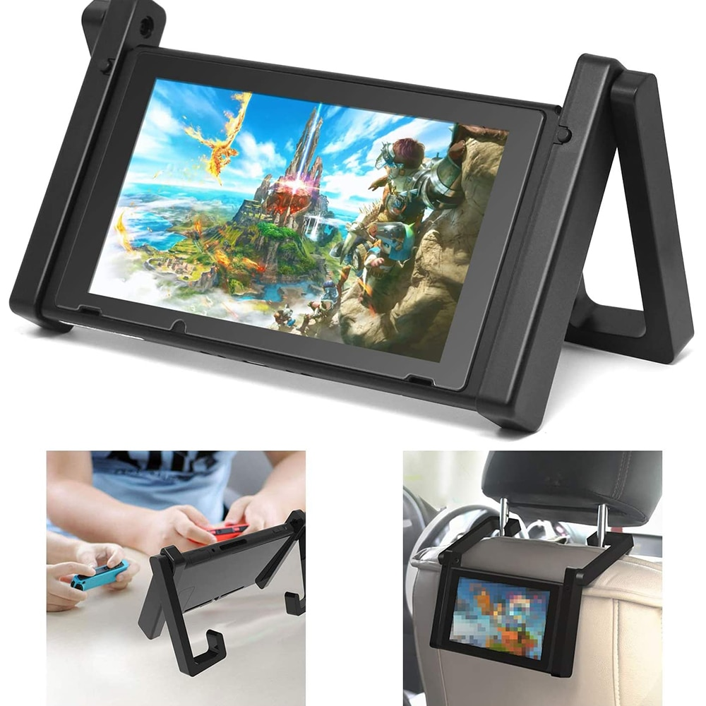 Stand Holder for Nintend Switch, Adjustable Car Headrest Mount Playstand Nintendo Switch NS Console And Accessories