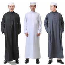 Arabe homme islamique vêtements pour hommes arabie saoudite Jubba Thobe Abaya Eid traditionnel solide Robes Allah Salam arabe vêtements 52-62