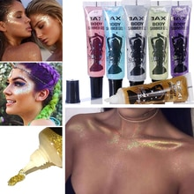 6 Colors Holographic Lip Flash Nail Decoration Sequins Eye Makeup  Eyeshadow Shimmer Body Glitter Ge