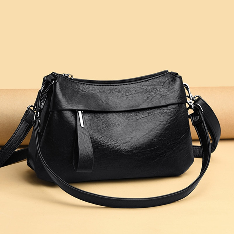 xiyuan brand women new fashion european and american style cross pattern black shoulder cross body bag female messenger bags red 2020 New Simple Style Women Shoulder Bags Quality Black Sheepskin Leather Female Messenger Bag Ladies Handbags Cross Body Bags