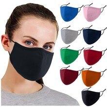 Femmes coton bouche masque anti-poussière coupe-vent en plein air bouche visage masque respirant lavable réutilisation masque visage voilé