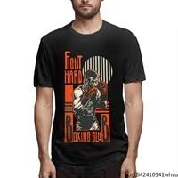 fight hard boxing club 2021 summer fashion new 3d printing pattern mens short sleeve trend casual t shirt