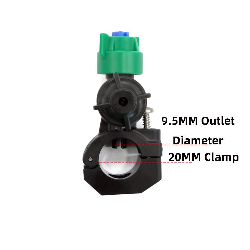 (20 piezas) boquilla pulverizadora antigoteo boquilla Teejet boquilla rociador ventilador plano boquilla plástica de protección agrícola boquilla pulverizadora