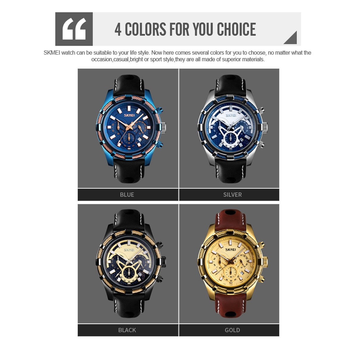Luxury Fashion Sports Waterproof Watch Men Analog Digital Military Silicone Army Watch Leather Strap Luminous Quartz Wrist Watch