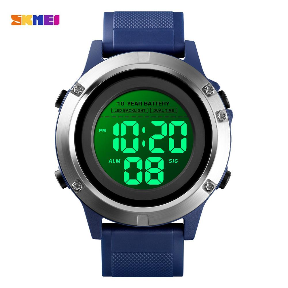 Creative Sports Watch Men's Watches Super life Battery LED Display Digital Wristwatches Clock Stopwatch Alarm Relogio Masculino
