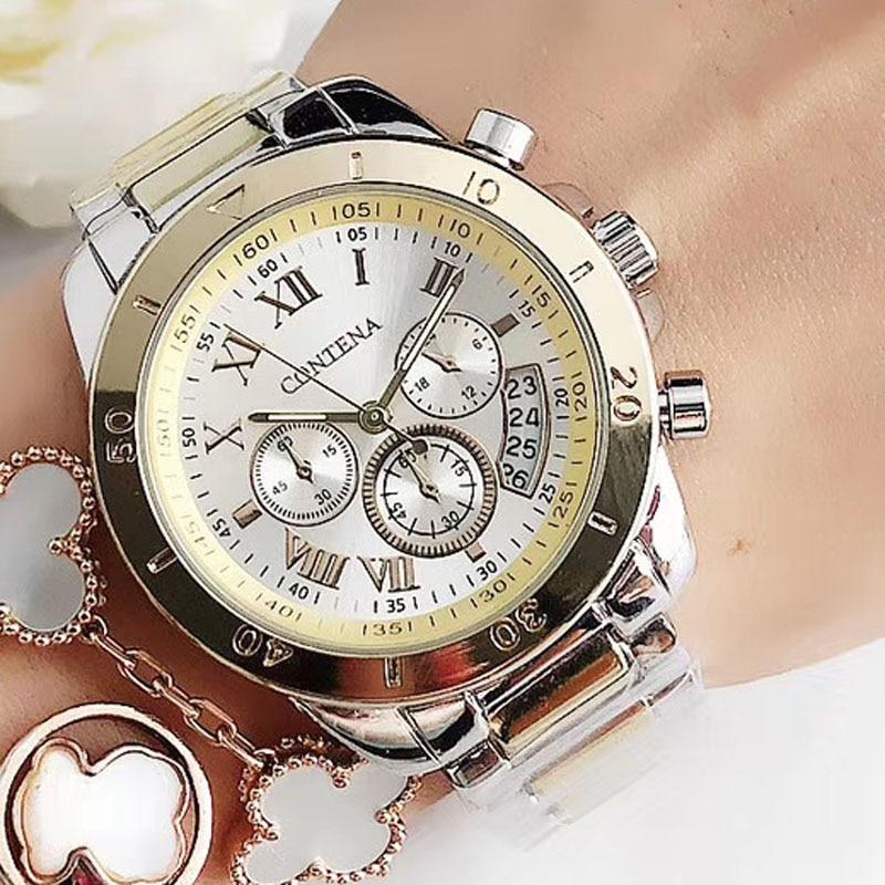 2020 Women Watches Geneva Famous Luxury Brand Fashion Gold Watches For Ladies Casual Female Quartz Watch Women's Wristwatches