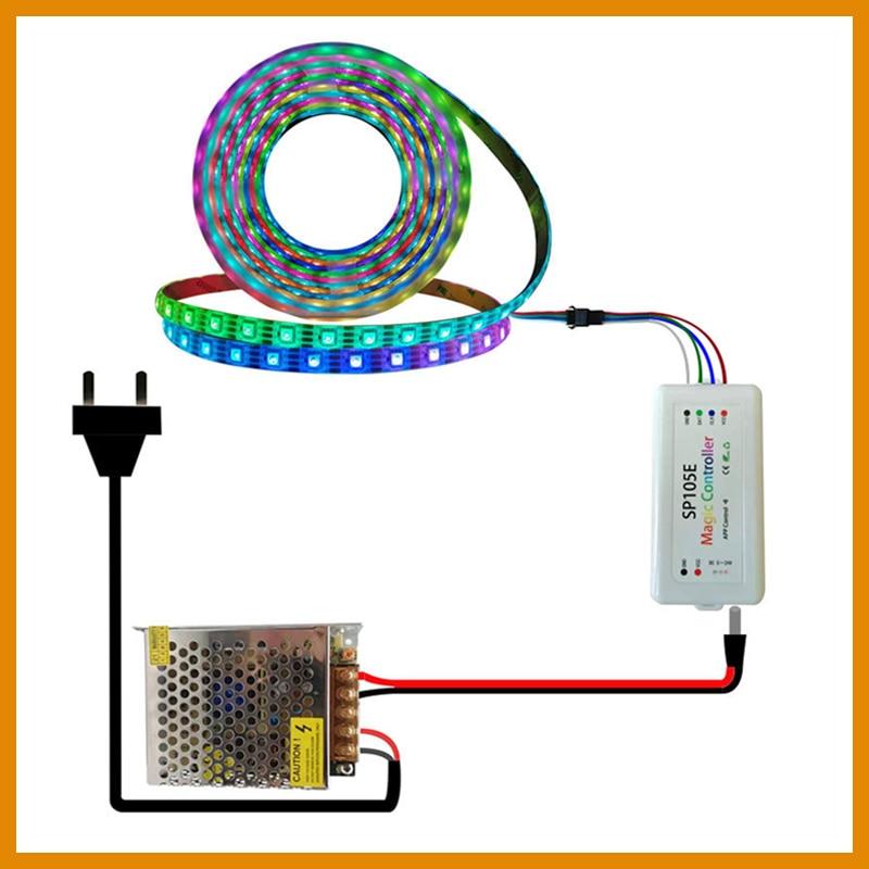 Dc12v Ws2815 Led Lights 12 Volt Power Supply for Room Driver Mibox Led Sp105e Controller Strip Combination Package Room Decorate enlarge