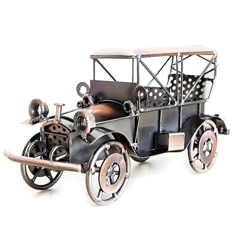 Металлическая Ретро модель автомобиля винтажная классическая модель автомобиля Модель автомобиля фигурка мальчика игрушка подарок домаш...