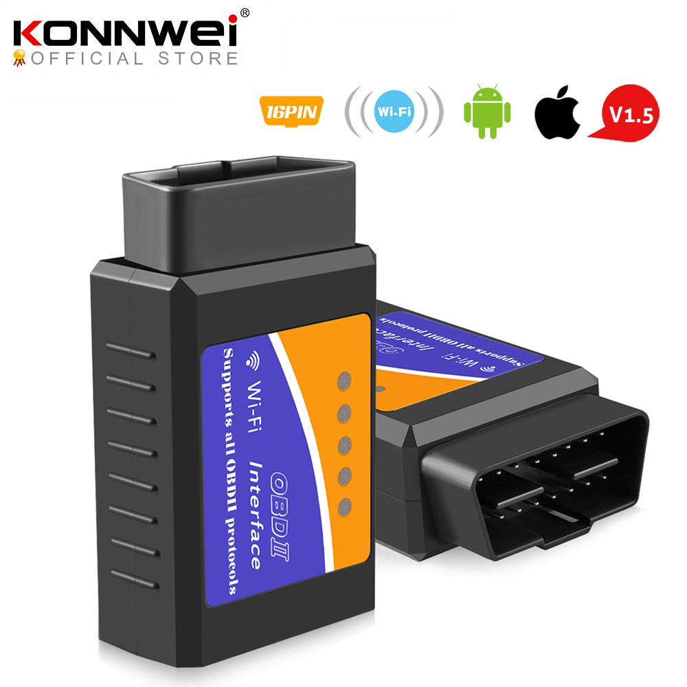 ELM327 Wifi V1.5 PIC18F25K80 Chip Code Reader ELM 327 OBD 2 Auto Scanner for IOS Android ELM 327 V1.5 WI-FI ODB2 Diagnostic Tool