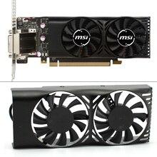 HA5510M12F-Z 0.20A 2Pin GTX1050 Ti GPU Cooler Fan For MSI Geforce GTX 1050 2GT LP GTX 1050Ti 4GT LPV1 Graphic Card Cooling fan